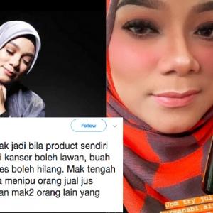 """Tak Jadi Kesian Sebab Produk Sendiri Pun Overclaim"" - Linda Rafar Dikecam Jual Jus Ubati Kanser"