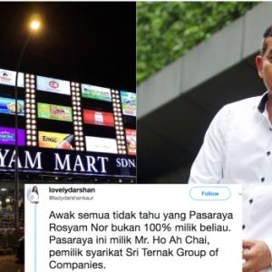 Gerakan Sokong Kedai Melayu Tiba-Tiba Kantoi Rosyam Nor Mart Bukan Miliknya Seorang