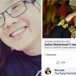 Hina Sultan Muhammad V, Eric Liew Minta Maaf