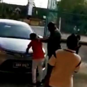 Polis Siasat Lelaki Pukul Budak Kerana Lekat Gula-gula Getah Pada Kereta