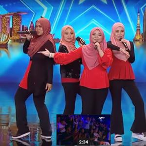 Kumpulan Gadis Berhijab NAMA Dari Malaysia Gegar Pentas Asia's Got Talent