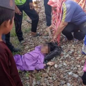 Tayar Basikal Dirempuh Keretapi, Budak 9 Tahun Tercampak 3 Meter
