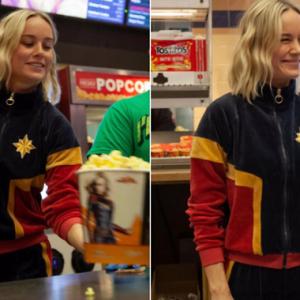 Brie Larson Berpakaian Sebagai Captain Marvel Memberi Kejutan Buat Pengunjung Panggung
