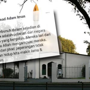 """""""Semoga Diampuni"""" - Lelaki Tuduh Mangsa Serangan Christchurch Pelarian Yang Lari Dari Jihad"""