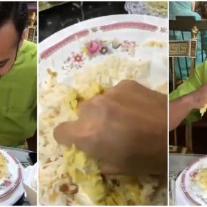 """""""Patutlah Single, Pengotor Rupanya""""- Netizen Kecam Gaya Nabil Mahir Makan Dengan Lahapnya"""