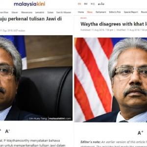 Menteri Salah Cakap, Atau Malaysiakini Salah Lapor?