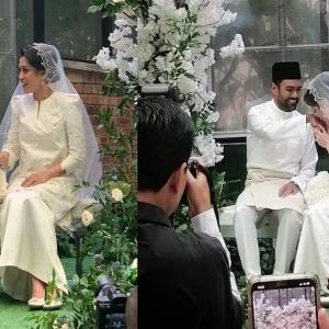 """""""Indahnya Busana Serba Putih"""" - Rizman Nordin & Nurida Suraya Selamat Bernikah"""