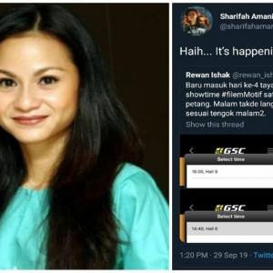 Twitter GSC Diserang, Pengarah dan Pelakon Berang Waktu Tayangan 'Motif' Dikurangkan