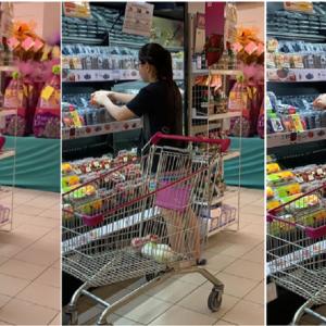 'Ingat Ini Pasar Buah?' -  Wanita Kantoi Buka Pek Pilih Buah Strawberi Elok Dikecam