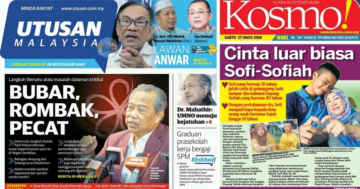 Utusan Melayu Sah Tutup Operasi Mulai Hari Ini