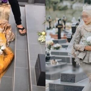 """Kenapa Tak Pose Dalam Lubang Kubur Je?"" - Photoshoot Pengantin Di Perkuburan Kristian!"