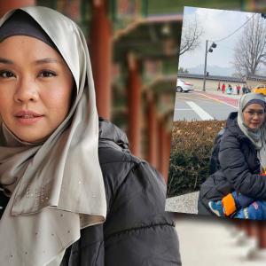 """Tepi Jalan Pun Jadi""- Liza Hanim Tak Segan Menyusukan Anak Ketika Bercuti Di Korea"