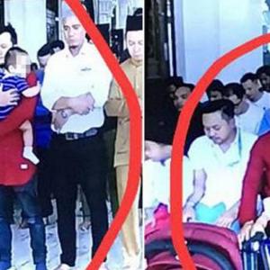 """""""Sah Ke?"""" - Tular Lelaki Solat Jumaat Sambil Dukung Bayi, Ini Jawapan Mufti"""