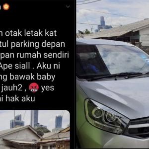 Lagi Jiran Yang Tak Reti Bahasa, Suka Hati Parkir Kereta Depan Rumah Orang!