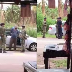 Ingkar Arahan PKP, Lelaki Kena Tempik Dengan Askar Sampai Terkaku