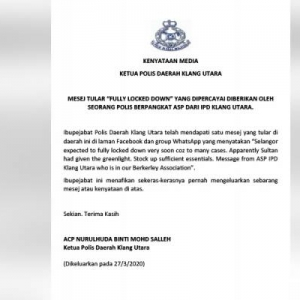 Mana Ada Total Lockdown Di Selangor, Itu Berita Palsu