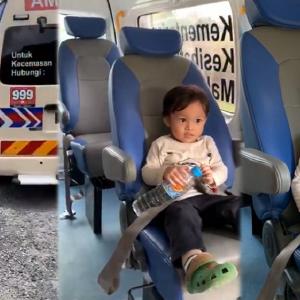 Anak 3 Tahun Dibawa Naik Ambulan Lepas Tunjuk Simptom Covid-19 Undang Sebak
