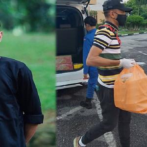 Selepas Mohon Maaf, Tomok Jadi Wakil Rakan-Rakan Bantu Petugas Barisan Hadapan