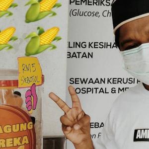 'Masyuk' Jual Air Jagung, Amir Raja Lawak Tak Menang Tangan Di Bulan Ramadan