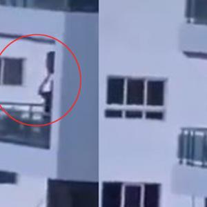Dah Lama Tak Main Di Taman, Lelaki Ayun Buaian Anak Di Balkoni Tingkat 8