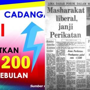 Zaman Tunku Lagi Kononnya Gaji Minima Patut RM1,500 Tapi 2020 Pun Baru RM1,200
