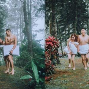 Tutup Dengan Bantal Je, Fotografi Pra Perkahwinan Berkonsepkan Menyatu Dengan Alam