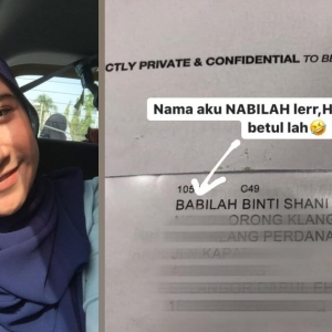 """Nama Aku Nabilah, Bukan Babilah! Sampai Hati Bank Salah Eja Nama Pada Surat"""