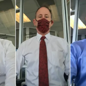 Gigihnya! Netizen Kagum Lihat Lelaki Ini Pakai Face Mask Sedondon Dengan Tali Leher