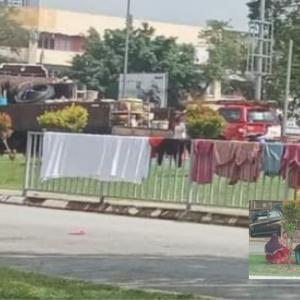 Warga Asing Sidai Baju Dan Berkelah Di Kawasan Terbuka, MPS Buat Apa?