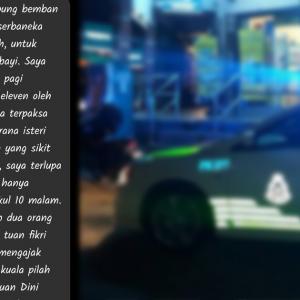 Ditahan Lupa SOP Tengah Malam, Lelaki Bersyukur Polis Bagi Susu Formula Bayi