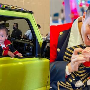 Baru Setahun, Anak Baim Wong Dapat Hadiah Pacuan Empat Roda