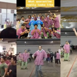 Ramai Terhibur, Pesakit Covid-19 Buat 'Fashion Show' Dalam Pusat Kuarantin Pakai Baju Ibu Bersalin