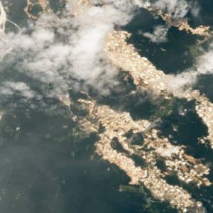 Sungai Nampak Berkilauan, ISS Berjaya Rakam Dipercayai Lubuk Emas Di Sungai Amazon