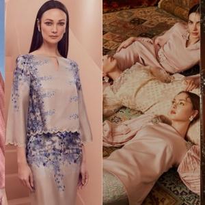 Model Mat Saleh Peraga Baju Raya, Gadis Melayu Tak Lawa Ke?