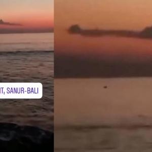 Video penampakan awan berbentuk kapal selam KRI Nanggala 402 dilaut Bali jadi tular