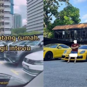"""Flex 50 Biji Sport Car, Kena Panggil LHDN Salahkan Bangsa Sendiri Dengki."""