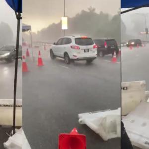 Ramai 'Mengelat' Di SJR, Bagi Tip Tunggu Hujan Kalau Nak Balik Kampung