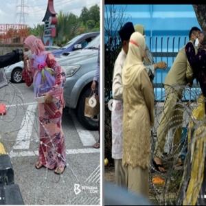 Sesi Peluk Cium Aidilfitri Di Sempadan Selangor, Negeri Sembilan
