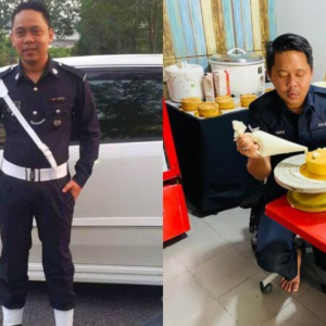 Macam Tak Percaya Abang Polis Minat Membakar Kek, Siap Ambil Tempahan!