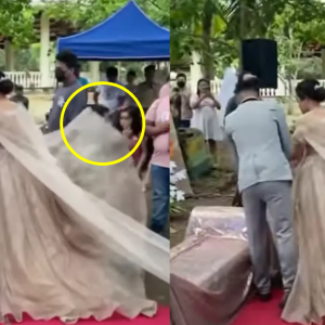 Lelaki Menyorok Bawah Gaun Pengantin