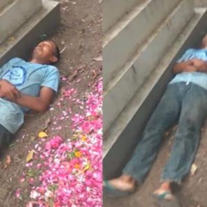 Lelaki Tular Tidur Di Sebelah Kubur Isteri