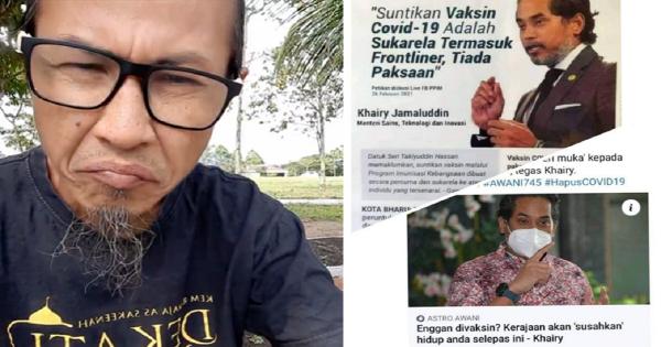 """""""KJ Nak Susahkan Golongan Anti Vaksin, Mereka Bukan Penjenayah Atau Pengganas,""""- Zul Yahya"""