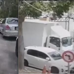 10 Kereta Rosak Dilanggar Lori, Netizen Ucap Terima Kasih?
