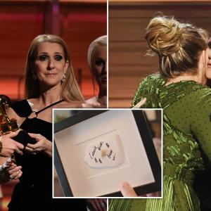 Adele Bangga Bingkaikan Gula-gula Getah Diludah Celine Dion, Jijik Ke Tak?