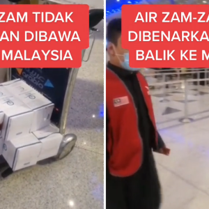 5 Liter Pun Dah Tak Dapat Bawa Balik, Air Zam Zam Kini Barang Larangan?
